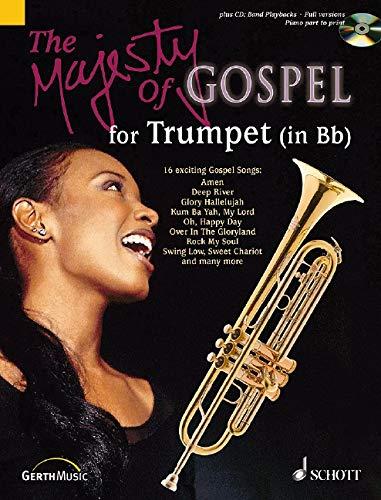 B-flat Trumpet Book Music - The Majesty of Gospel for B-flat Trumpet: 16 Great Gospel Songs