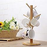 Wood mug tree,Creative home wood mug holders teacup stands coffee mounts mounted glass mirrors-A