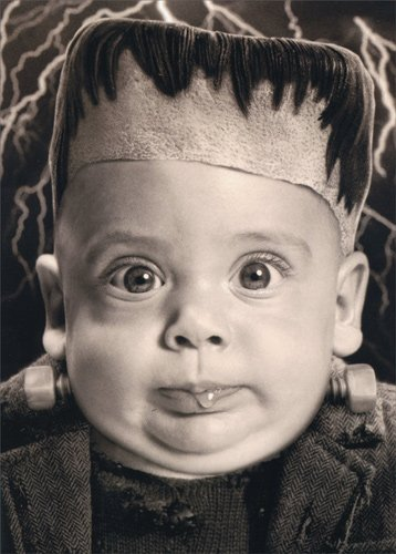 Halloween Baby With Bolted Neck - Avanti Stand Out Pop Up Funny Halloween Card