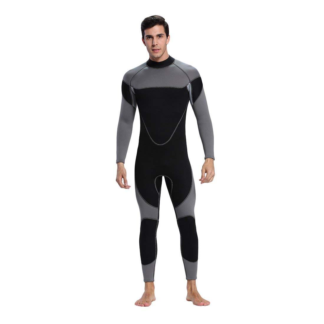 Formulaone Komfortable Keep Warm Neopren Männer Rubber Dive Neoprenanzug Männer Neopren Tauchausrüstung Surf Kleidung Tauchanzug für Männer - schwarz & Grau S 35645c