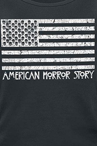 American Horror Story Flag Top Mujer Negro Negro