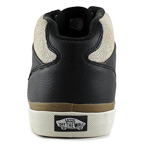 Bestelwagens Mens Bedford Hoge Tops Lace Up Skateboarden Schoenen Crackle Black / Marshmallow