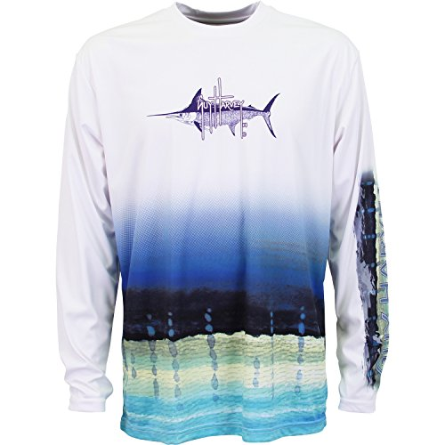 Guy Harvey Long Sleeve Performance Marlin Pro UVX T-Shirt (Marlin Long Sleeve Tee)
