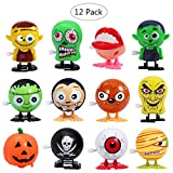 LUOEM 12PCS Wind Up Toys Halloween Goody Bag Assorted Jumping Wind Up Toy Mini Toy Preschool Toy For Kids Gift Pack