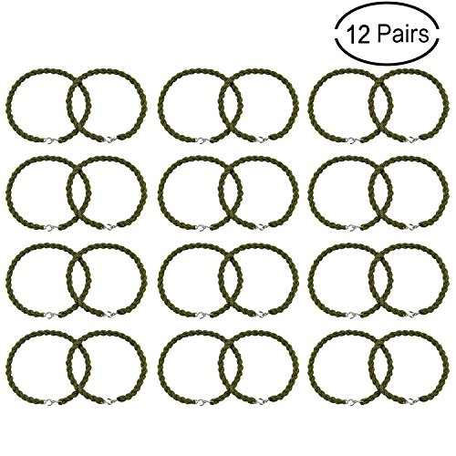 Scafiv 12 Pieces Military Boot Straps Grade Boot Bands Elastic Blousing Garters Straps with Metal Hooks Used for Navy Army Air Force ()