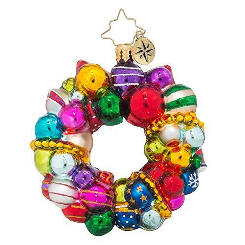 Christopher Radko Joyful Wreath Little Gem Wreath Christmas ()