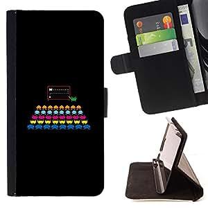 - FUNNY - COLORFUL GAMING COMIC - - Prima caja de la PU billetera de cuero con ranuras para tarjetas, efectivo desmontable correa para l Funny HouseFOR Samsung Galaxy S6