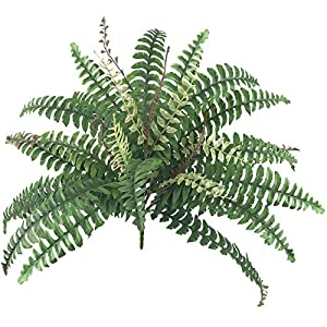 Artificial Shrubs 4 Bunches Artificial Boston Fern Plants Greenery Bushes Flower for House Office Garden Indoor Outdoor 10
