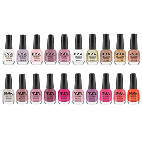 Reveal Lacquer Multi-Color Nail Polish Set, 15 mL (20 Pack)