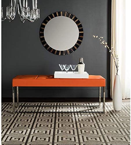 Safavieh Home Collection Marc Modern Glam Orange Bench