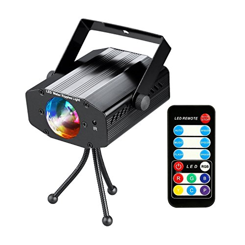 [COIDEA Disco Light Strobe Light Karaoke Machine Party Light Rgb Disco Ball 9w Led Sound Actived 7 Color Changes Light Show for Bar Club Parties DJ Karaoke Outdoor and More(with] (Small Fog Machines)