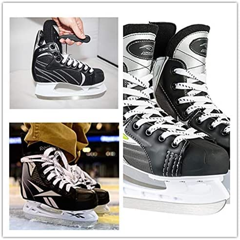 """Adarowigen Hockey Skate Laces Waxed Heavy Duty- Set of 2 Pairs and 1 Tightener Sizes(72"""",84"""",96"""",108"""",120"""",130"""")"""