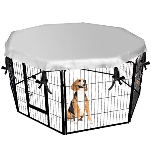 EXPAWLORER Dog Crate Cover for Outdoor and Indoor- Double Side Waterproof Windproof Shade Kennel Cover, Fits 24