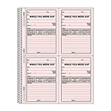 REDIFORM Wirebound Message Book, 4 X 5 1/2, Two-Part, 200 Forms (50736) by Rediform