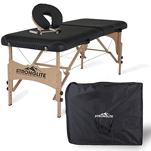 STRONGLITE Portable Massage Table Package Shasta - All-In-One Treatment Table w/ Adjustable Face Cradle, Pillow & Carrying (Stronglite Face)