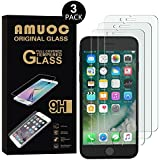 iPhone 8/iPhone 7 Tempered Glass Screen Protector Guard, Amuoc Full coverage Ultra Clear 9H Premium Tempered Glass HD Screen Protector for iPhone 7/8 (4.7 inch)[3 Pack]