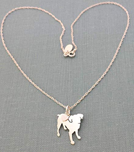 Smooth Coate Brussels Griffon Sterling Dog charm Necklace Pet memorial silhouette Personalize Monogram jewelry