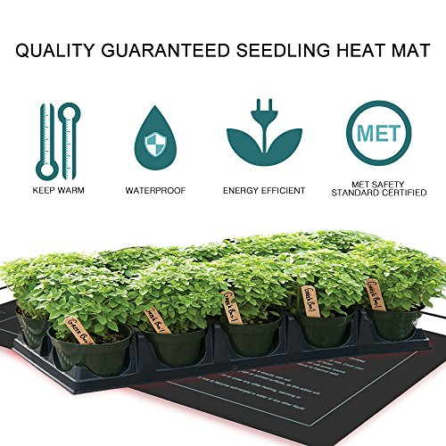 VIVOHOME Waterproof Seedling Heat Mats for Seed Propagation and Increase Germination Success 48 Inch x 20.75 Inch MET Safety Standard Certified