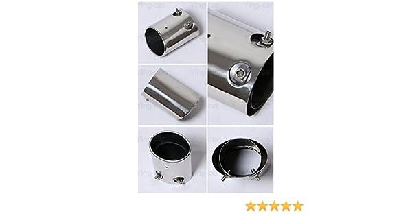 Yingchi 1Pcs silver Chrome Car Exhaust Muffler Tail Pipe Tip Tailpipe Trim