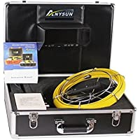 Anysun Pipe & Wall Video Snake Inspection System with 7-Inch Color LCD Monitor and 30 meters /100foot DVR