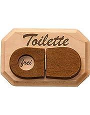 Spreukenband PREMIUM KWALITEIT 100% EMOTIONEEL · WC-bord van hout · Toiletbord met WC-deksel om te klappen · Deurplaat WC · Schild toilet · grappig cadeau-idee