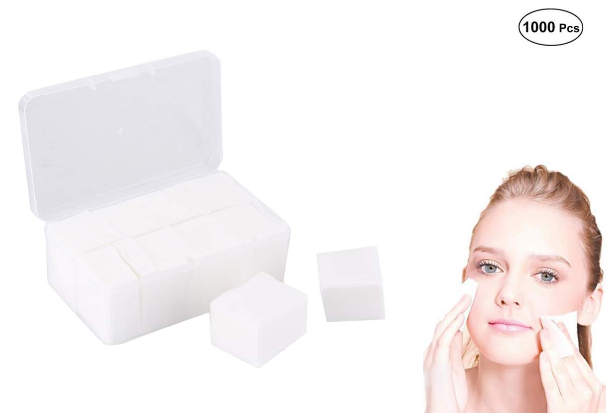 Healthcom 1000 Pcs Soft Cotton Pads Makeup Facial Soft Cottom Balls(60x50mm)