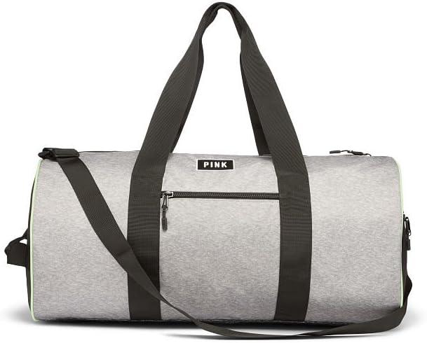 Victoria s Secret PINK Grey Marl Weekender Gym Duffle Bag
