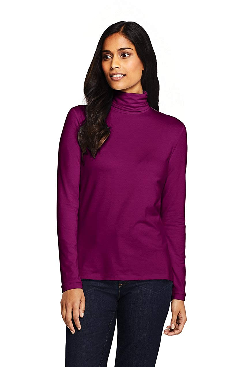 Lands End Womens Petite Lightweight Fitted Long Sleeve Turtleneck
