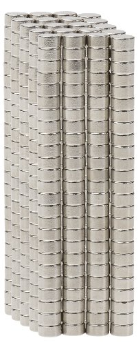 BYKES 500 Neodymium Super Strong Extremely Powerful Rare Earth Refrigerator Magnets 1/8