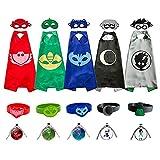 Kids Capes and Masks Costume for Catboy Owlette Gekko Romeo Luna Girl