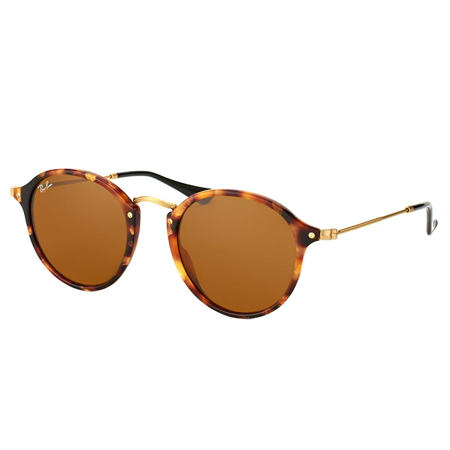 1ba32d5aac62a Amazon.com  Ray-Ban RB2447 1160 Round Fleck Sunglasses Tortoise Frame    Brown Lens 52mm  Clothing