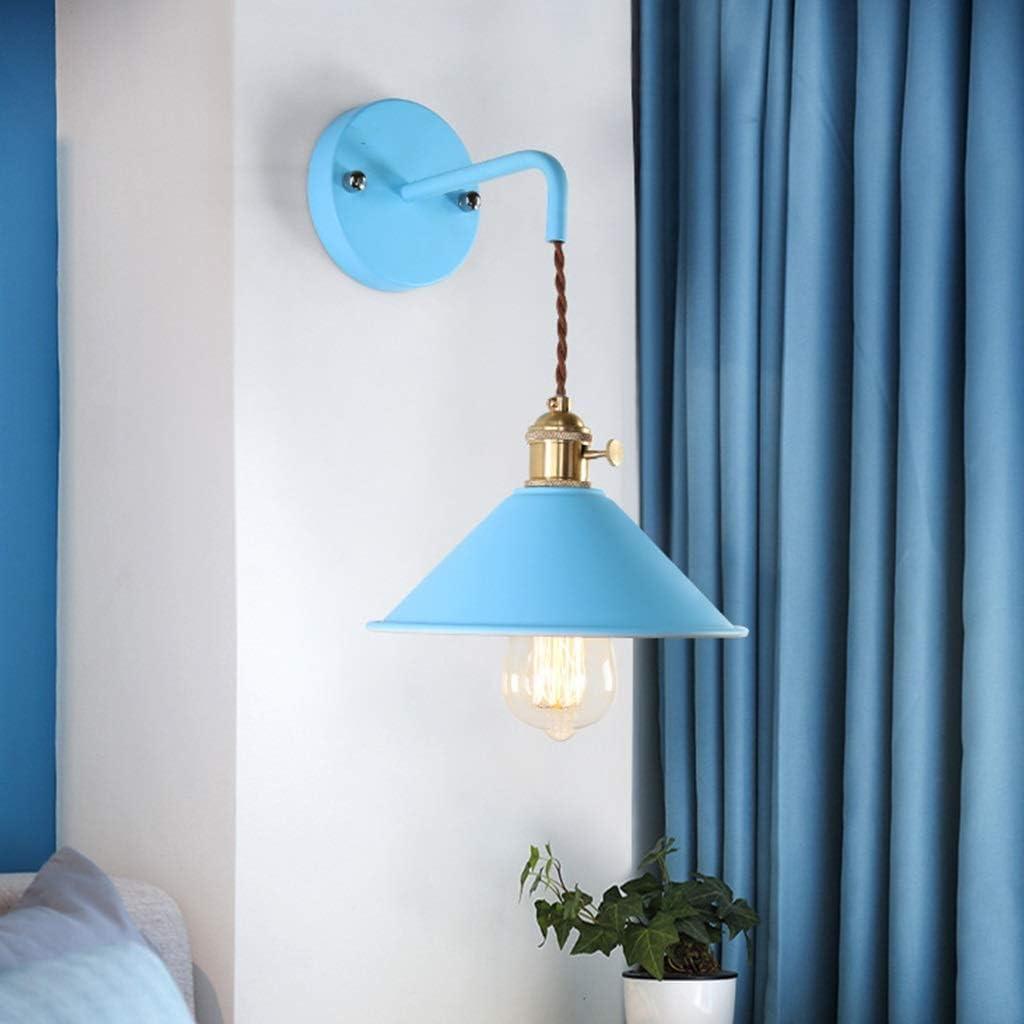Qjy Vintage Wand Lights, Adjustable Socket Industrial Lighting Rustic Draht Metal Sconces Indoor Zuhause Wand Lamp Retro Licht (Color : Black)