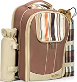 Kitchen Supreme Picnic Backpack Set for 4