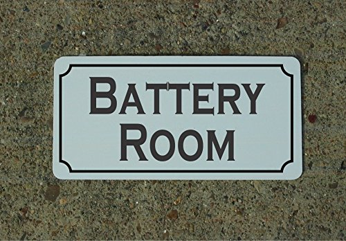 Battery Room 6''x12'' Metal Sign for Boat Ship Solar Generator by SuperSigns
