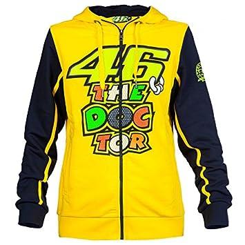 Valentino Rossi VR46 Sudadera con Capucha Doctor Moto GP Mujeres Oficial 2016: Amazon.es: Deportes y aire libre