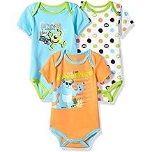 Disney Baby Boys' Monsters Inc 3 Pack Bodysuits