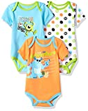 Apparel : Disney Baby Boys' Monsters Inc 3 Pack Bodysuits