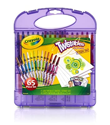 Crayola Mini Twistable Crayons and Paper Set, 25-Crayons