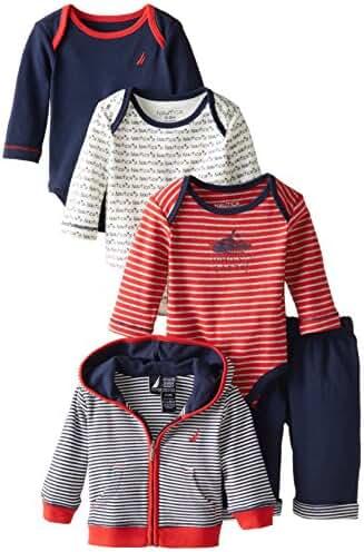 Nautica Baby Boys' Four Piece Vest, Pant, and Tie Set