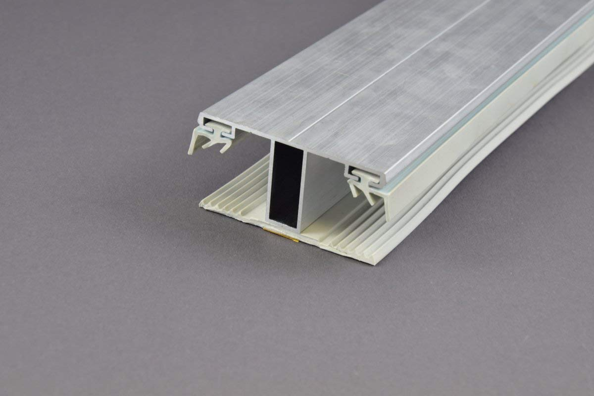 Stegplatte Verbindungsprofil Profile Mitte f/ür 16mm Stegplatten Alu//Gummi 6 Meter