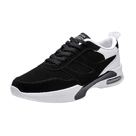 JiaMeng Zapatos para Correr En Montaña Asfalto Aire Libre Deportes Zapatillas con Cordones Planas Zapatillas Antideslizantes Resistentes al Desgaste ...