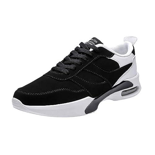 Zapatos Hombre Black Friday Casuales Invierno Calzado Deportivo con Cordones Planos para Hombres Ocasionales Zapatillas Antideslizantes Resistentes al ...