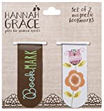 C.R. Gibson Magnetic Book Marks, 2-Count, Bookmark/Flower (JBKM-14347)