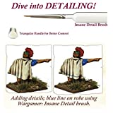 Miniatures Paint Brush Set of 3 Miniature Paint Brushes - Insane Detail, Regiment and Small Drybrush - Quality Detail Brush Set Handmade in Europe - Wargamer Most Wanted Brush Set by The Army Painter