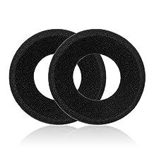 TurnRaise Grado Headphone Pads, Replacement Soft Foam Ear Pads for Grado SR80 SR60 SR125 SR225 SR325 325i Headphone & Alessandro M1 M2 - 2 Pieces,Black