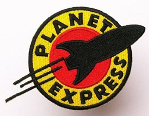 futurama-planet-express-iron-sew-on-embroidered-patch-badge-costume-fancy-dressapprox44-105cm-x-appr