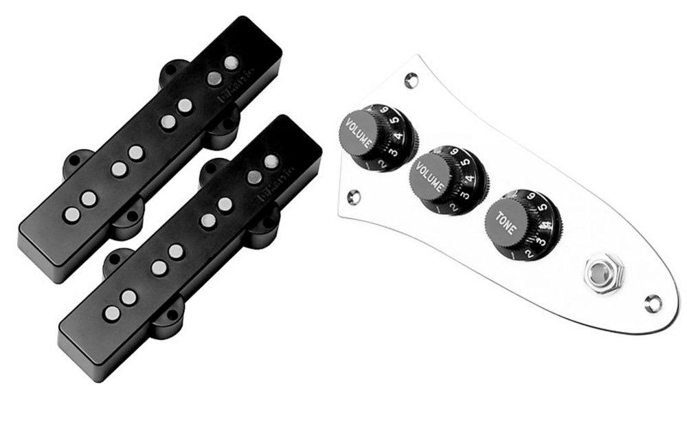 DiMarzio Ultra Jazz Bass Prewired Pickup Set Black