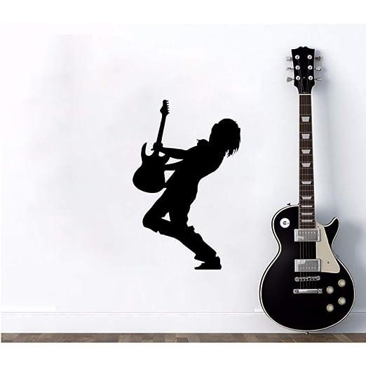 Música Guita Player Rock Tatuajes de pared Vinilo Musical Sticker ...
