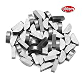 Akozon Woodruff Key 100Pcs 45# Steel Semicircle Bond Woodruff Key Kit Accessories 4 * 6.5 * 16mm