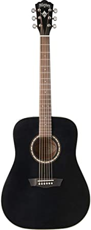 Washburn WD7SBM - Wd-7s bm guitarra acústica tipo dreadnough negra